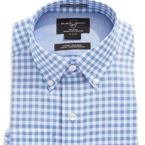 Black Brown 1826 short sleeve checkered shirt   XL